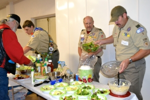 November 2013 - Chapter 989 Giving Thanks Dinner for all Members and Guests. BSA Troop 1 helping out.