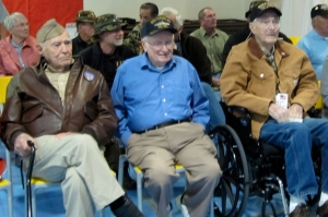 November 2013 - Hillside Elementary School in Lockwood, Nevada, hosts a Veterans Appreciation Lunch. WW II Vets.